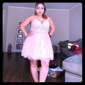 Asos Pink Tulle mini dress